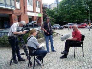 Mathias vor der Kamera